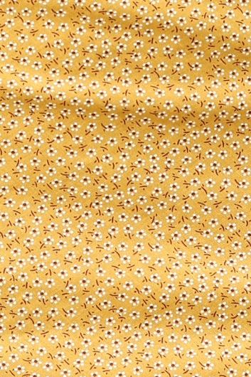 Empty Glasses Dress - Mustard Print
