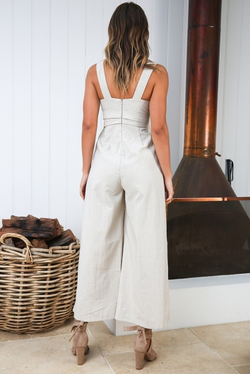 Game Drive Jumpsuit - Natural