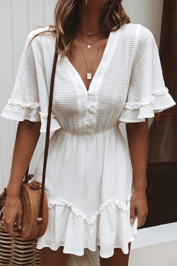 Simple Life Dress - White