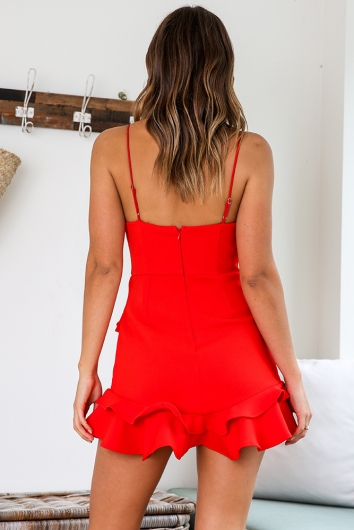 It Takes Two Dress - Red