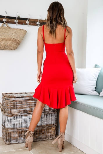 City Lights Dress - Red