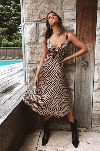 Cappadocia Sunset Dress - Bronze Tiger