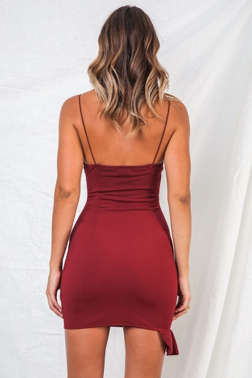 Nikki Dress - Wine