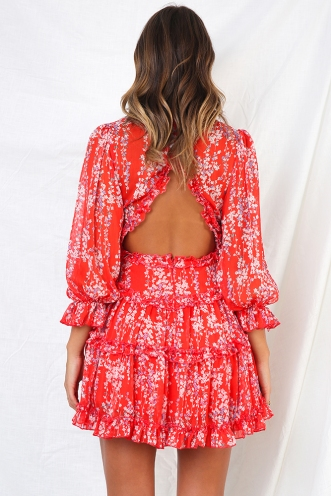 Essie Dress - Red Floral
