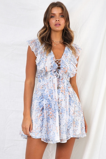 327b8553a5878 Blessings Dress - White Print - STELLY