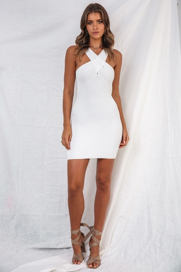 Move my hips dress - White