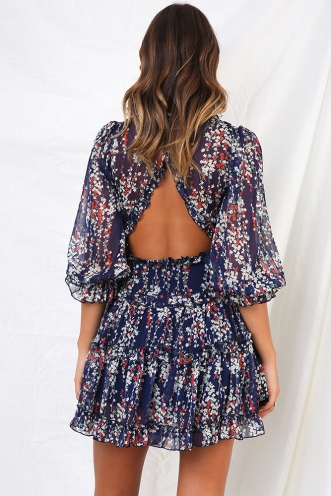 Essie Dress - Navy Floral
