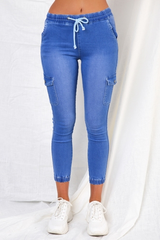 Carlin Pants - Blue Denim