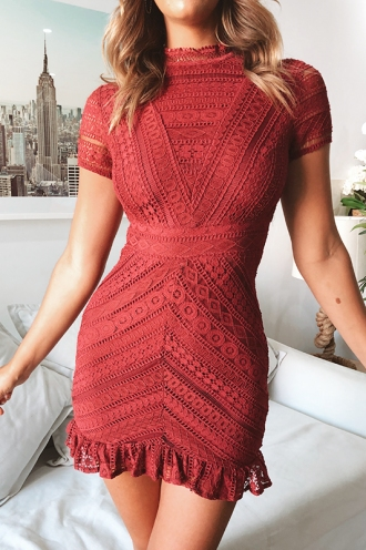 Mischa Dress - Wine