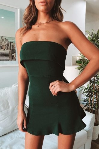 Tarryn Dress - Forest Green