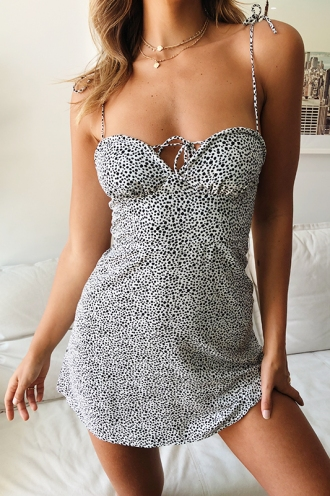 Leila Dress - White Print