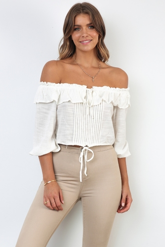 Clouded Thought Top -Off White