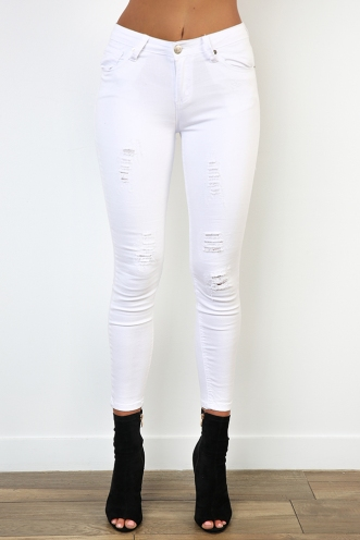 Mad About You Jeans - White