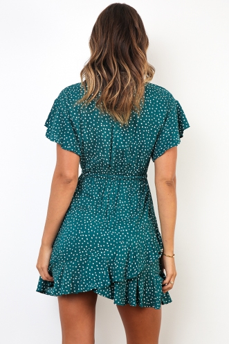 Reva Dress - Green Spot
