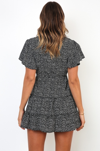 Coastline Dress - Black Print