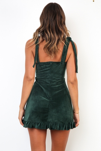 Crystal Dress - Forest Green
