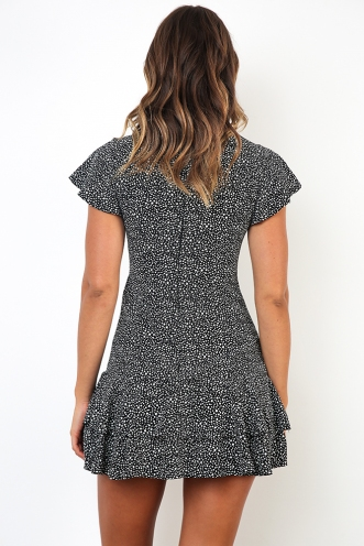 Aria Dress - Black Print