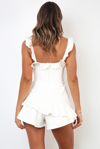 Blake Playsuit - White