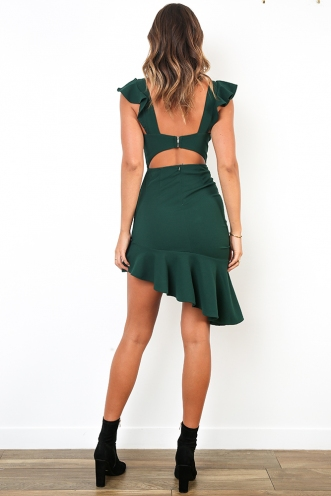 Royal Lady Dress - Forest Green