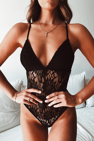 Seduction Bodysuit - Black