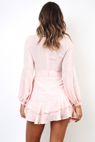 Fly With Me Dress - Baby Pink
