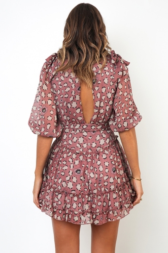 Kiara Dress - Rose Print
