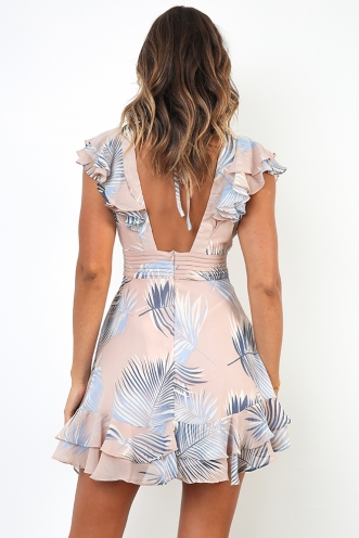 Martha Dress - Blush Print