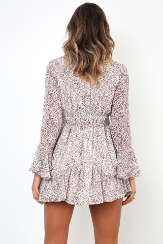 Melinda Dress - White Print