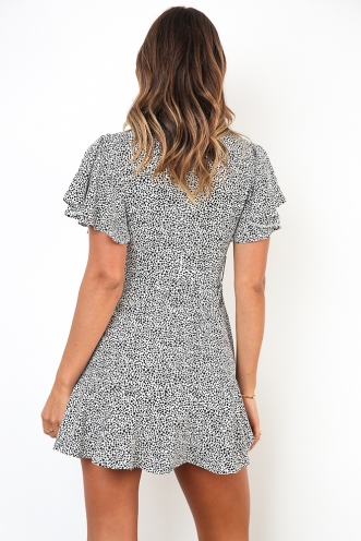 Spencer Dress - White Print