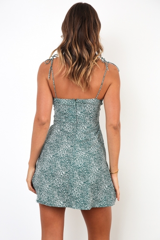 Leila Dress - Green Print