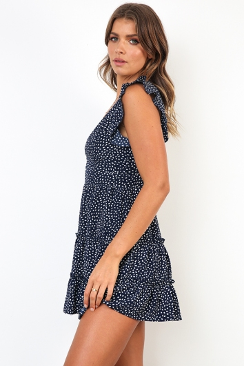 Liane Dress - Navy Print