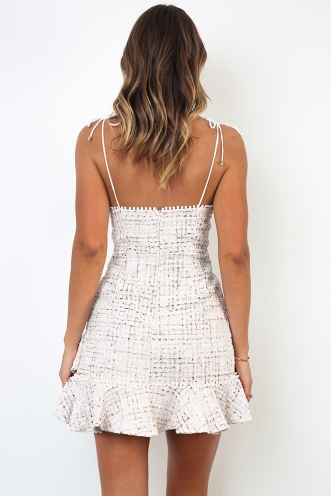 Nicola Dress - Off white Multi
