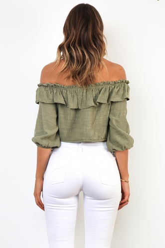 Clouded Thought Top - Khaki