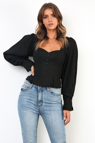 High Seas Top - Black