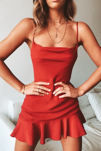 Burning Love Dress - Deep Red