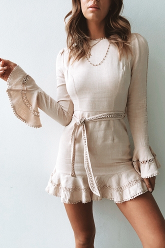 Plain Jane Dress - Beige