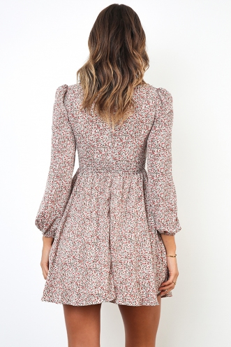 Lose My Mind Dress - White/ Pink Floral