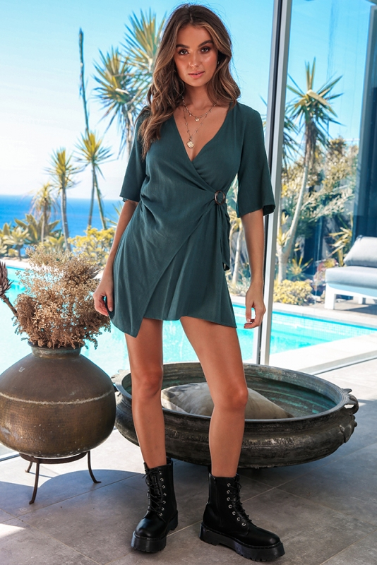 Lexi Dress - Forest Green SALE - STELLY