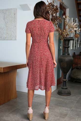 Harmony Hall Dress - Red Floral
