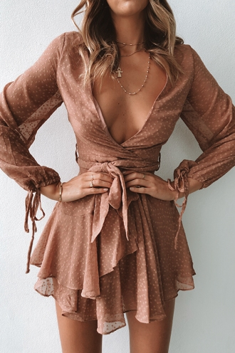 Cara Dress - Brown