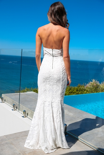 Grand Ballroom Dress - White Lace