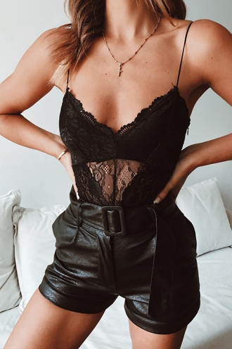 Patience Bodysuit - Black Lace