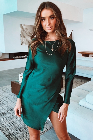 Forever and Never Dress - Emerald Green