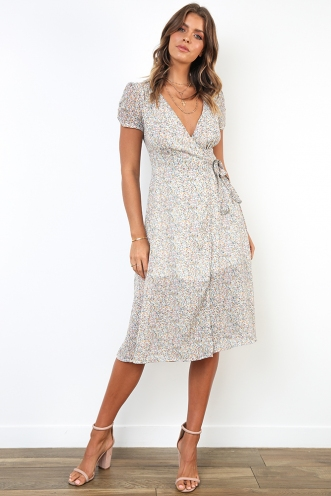 Road Trip Dress - Blue Floral