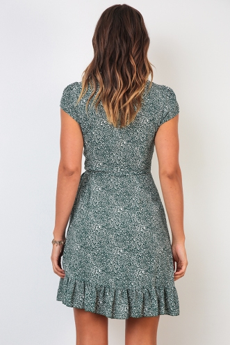 Ready To Go Dress - Green Print