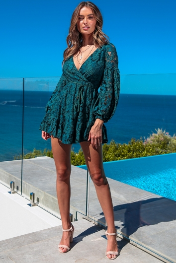 With Or Without You Dress - Teal