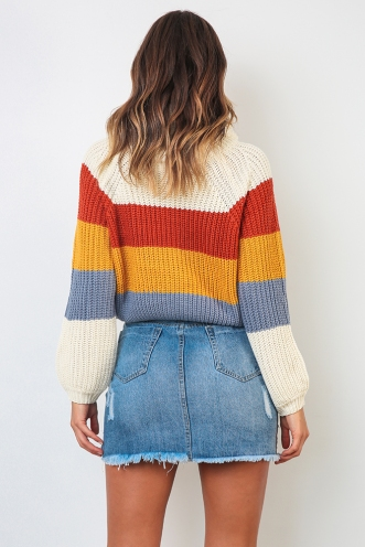 Kingston Jumper - Mix Mustard/ Blue
