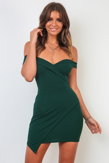 Coco Dress - Forest Green