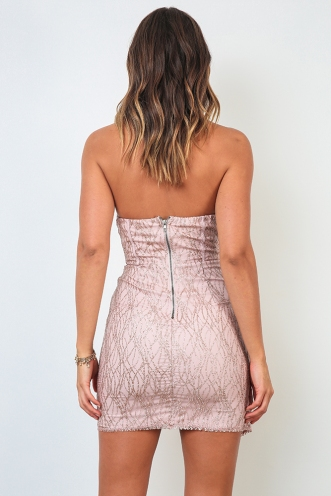 Wine Time Dress - Rose Gold