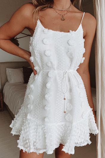 From Paris With Love Dress - White